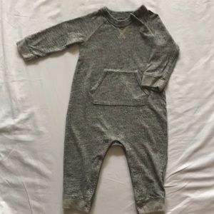 Baby Gap Heather Gray knit onesie